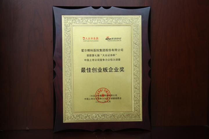 最佳创业板企业奖